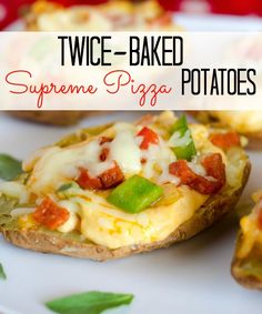 Love supreme pizza? How about twice-baked potatoes? Now you can have them all in one, cheesy dish! Try this recipe for a hearty, weeknight meal or serve as hearty appetizers!