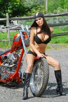 Sexy Biker babes, Cow-girls, Army girls, babes and Guns