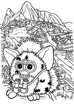 Furby Coloring Pages #kids #coloring #colouring #pages #furby