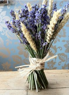 lavender and wheat bouquet