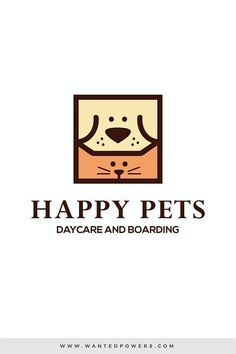 Dog Cat Happy Pets Logo Custom Pre-Made Logo Design Pet Logo Illustration Cute illustrated dog and cat square head logo perfect for your pet-related business Dog Logo Design, Brand Identity Design, Branding Design, Logo Branding, Graphic Design, Corporate Branding, Logo Gato, Cat Logo, Logo Inspiration