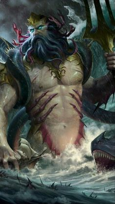 Greek And Roman Mythology, Greek Gods, Fantasy Creatures, Mythical Creatures, Greek Mythological Creatures, Art Visionnaire, Roman Gods, Mythology Tattoos, Mermaids And Mermen