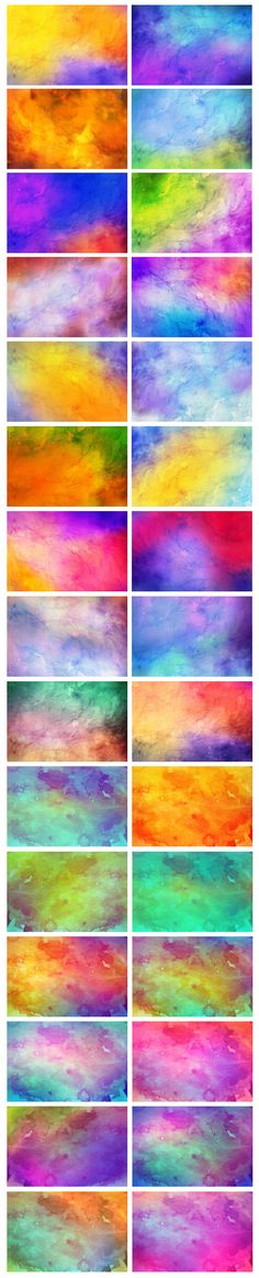 52 Watercolor Backgrounds - Textures