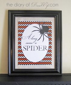 Along Came a Spider Halloween Printable by Diary of Dave's WIfe #Halloween #Fall #Printable