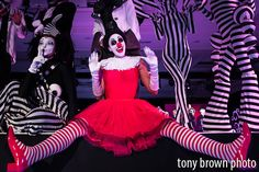 Zeeb and Raa with Kiki the Mime! Fun and funky black and white themes! Circus Acts, Black And White Theme, Black Tie Affair, Stage Show, Circus Theme, High Fashion, Stripes, Couture, Studio