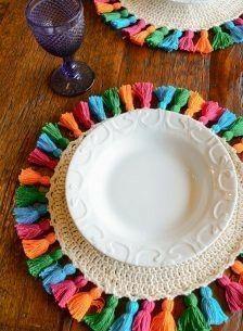 Rope Crafts, Diy Crafts Hacks, Yarn Crafts, Diy And Crafts, Crochet Rug Patterns, Macrame Patterns, Crochet Designs, Crochet Kitchen, Crochet Home