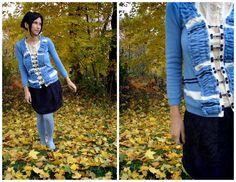 Embellish #refashion #sweater cardigan