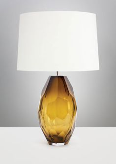 Best & Lloyd – Faceted Vase  Faceted Vase lamp in crystal and nickelplated brass by Best & Lloyd, through George Smith; georgesmith.com.