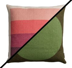 Roros Tweed 100% Norwegian Lambswool Asmund Bold Reversible Pillow Cushion #RorosTweed #NorwegianModern