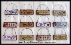 paintsticks from lowe's, print sayings onto scrap paper, modgepodge on, add wire for hanging and embellies. whatcha think @Iva Youngs?