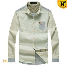 Mens Button Down Long Sleeve Dress Shirts CW114570 $89.89 - www.cwmalls.com