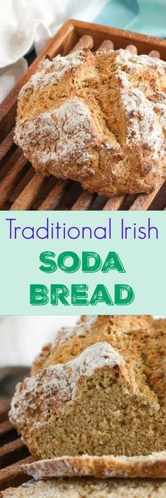 How To Make Your Own Traditional Irish Soda Bread. Don't have time to make bread? Then whip up a traditional Irish soda bread instead. This loaf, which is so quick and easy to make, is absolutely delicious straight out of the oven. And any leftovers make amazing toast. #Irish #soda #bread #recipe #thecookspyjamas #easy #recipe #wholewheat #Irishfood #Irishrecipes