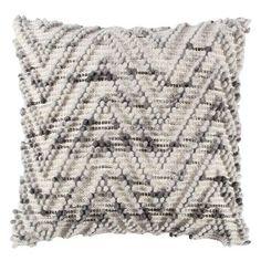 "Natural/Grey Chevron Throw Pillow (20""x20"