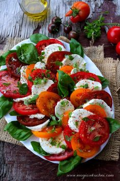 Cooking Recipes, Healthy Recipes, Lunch To Go, Caprese Salad, Mozzarella, Food Dishes, Catering, Salads, Dinner Recipes