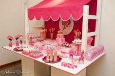 Barbie Themed Ice Cream Party via Kara's Party Ideas - www.KarasPartyIdeas.com