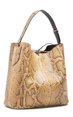 Light Cuoio Python Bucket Bag by Bally - Spring-Summer 2015 (=)