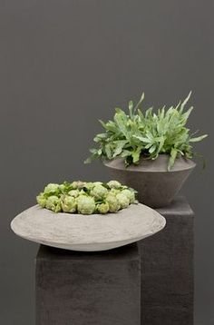 Concrete pedestals and planters