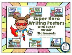 This SUPER poster sets lets you and your students understand what the writing processes is AND keep track of where everyone is at the same time.  Each poster can be used as a tracking system by either attaching ribbon onto the poster and using clips with student names on them or use on a white board with magnetic names!