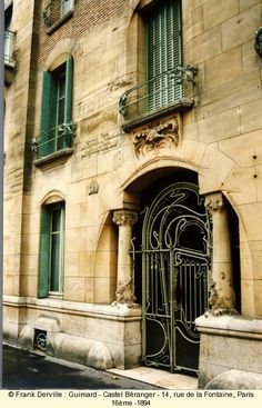 Castel Béranger - Paris, France - Guimard, French Architect of Art Nouveau