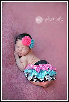 Hot pink turquoise and black and white scroll ruffle bloomers diaper cover newborn baby infant toddler girl.
