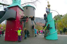 Københavns bytårne i børnehøjde (Copenhague, Dinamarca)