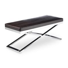 Sunpan Modern Crawford X-Base Faux Crocodile Bench | AllModern