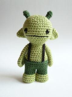 Gmurk the cute amigurumi monster - Crochet softie monster - Stuffed monster - Plush monster by CreepyandCute on Etsy https://www.etsy.com/listing/122661568/gmurk-the-cute-amigurumi-monster-crochet