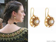 On Reign episode Mary wears these Valentine Rouge Jewelry 'Daisy' earrings Tassel Earrings, Pearl Earrings, Drop Earrings, Reign Fashion, Tv Show Outfits, Fandom Jewelry, Royal Jewelry, Jewellery, Mary Stuart