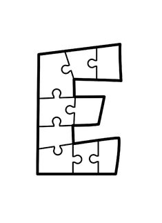 Letter E Activities, Preschool Worksheets, Preschool Crafts, Activity Books For Toddlers, Fine Motor Activities For Kids, Teaching Letter Sounds, Teaching Letters, Puzzle Piece Template, Environment Quotes