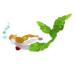 beach glass and pebble art with sand Sea Glass Beach, Sea Glass Art, Stained Glass Art, Ocean Beach, Sea Crafts, Sea Glass Crafts, Sea Art, Driftwood Art, Mermaid Art