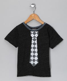 Charcoal & Gray Argyle Tie Tee - Toddler & Boys by Million Polkadots on #zulily #cutiestyle