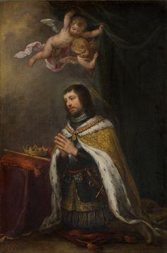 San Fernando / Saint Ferdinand III of Castile // Ca. 1672 // Bartolomé Esteban Murillo // Fernando III de Castilla (El Santo) // Museo del Prado // #king #Spain #crown