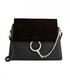 Chloé Faye Medium Shoulder Bag, Black