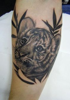 baby tiger tattoo one of my first tattoos i want my fav animal rh pinterest com baby tiger tattoo ideas baby tiger tattoo designs