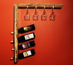 Another Wine Rack Design. Wood Wine Racks, Wine Rack Wall, Wine Glass Holder, Wine Bottle Holders, Wine Bottle Crafts, Wine And Liquor, Wine And Beer, Wine Rack Design, Pallet Wine
