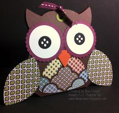 by Ilina Crouse, My Creations: Baazar Owl Box template and tutorial