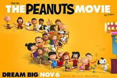 Charlie Brown, Snoopy, Lucy, Little Red-Haired Girl and all of our favorite Peanuts hit the big screen! Peanuts Movie, Peanuts Gang, Trailers, Blue Sky Studios, Movie Gift, Film D'animation, Charlie Brown And Snoopy, Dvd Blu Ray, Family Movies