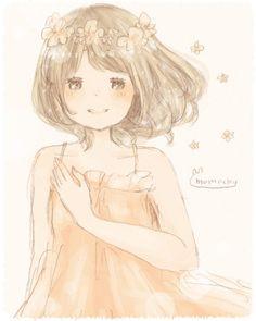 Momochy Manga Anime, Kawaii Illustration, Forest Girl, Pink Houses, Mori Girl, Japanese Artists, Fantasy Girl, Sweet Girls, Cute Kids