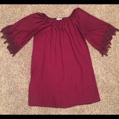 Dress Maroon dress Dresses Long Sleeve