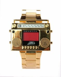 Flud Boombox Digital Watch - Gold LOVE IT