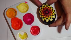 How to paint rock mandalas #9-Vibrant Eggs - YouTube