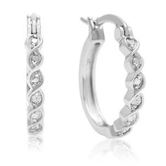 Twisted Diamond Hoop Earrings + FREE Diamond Bracelet!