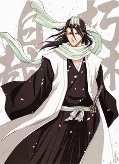 Byakuya Kuchiki (朽木 白哉, Kuchiki Byakuya) is the 28th head of the Kuchiki Clan, one of the four great noble clans in Soul Society. He is also the captain of the 6th Division in the Gotei 13, and his lieutenant is Renji Abarai.