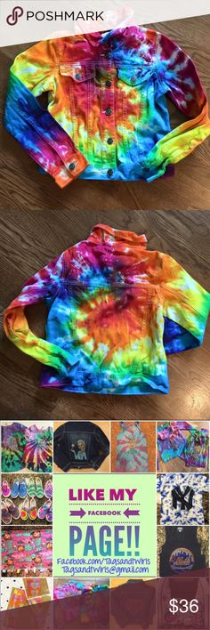 NWT Rainbow Swirl Tie Dye Jean Jacket All Sizes Brand new from our boutique line. Custom swirl design in traditional rainbow colors. Please not that all tie dye items are one of a kind and may have variations from the coloring process. The jackets are original from the Children's Place so you can judge sizing. Sorry, no trades. Offers always entertained. Children's Place Jackets & Coats Jean Jackets