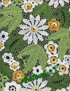 Detalhes de uma blusa de croche.