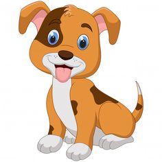 Cute little dog cartoon isolated on whit. Cute Corgi, Corgi Dog, Dachshund Dog, Cute Puppies, Art Drawings For Kids, Animal Drawings, Cute Drawings, Baby Cartoon Drawing, Cartoon Dog
