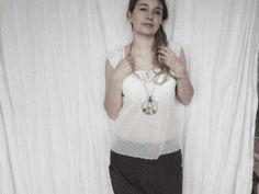 raw necklace raw stone geometric necklace geometric by MARIAELA, $43.00