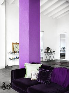 Paint basement poles an accent color!