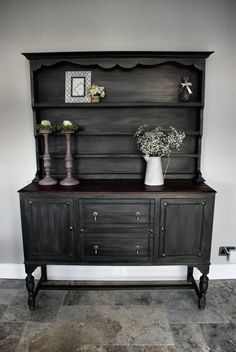Beautiful dark Welsh Dresser by HuntersMoonworkshop on Etsy