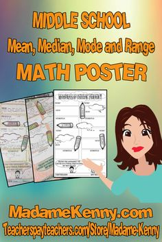 Our latest product is a print and go middle school math coloring worksheet focused on Mean, Median, Mode & Range. For more information about our latest print and go product click...https://www.teacherspayteachers.com/Product/Measures-of-Central-Tendency-Math-Poster-2855479